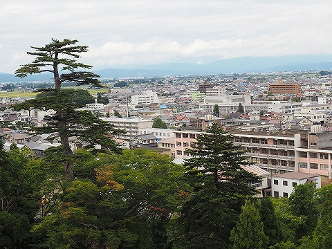 鶴ヶ城からの眺め'18.9.8