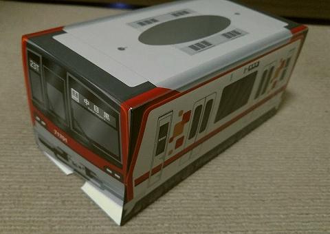 東武70000系ティッシュボックス