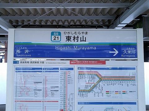 東村山駅名板'20.3.30