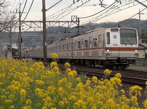 東京メトロ7000系@元加治'20.3.27