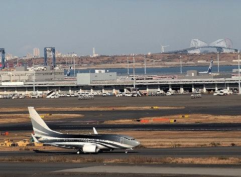 ケイマン島企業所有Boeing737-700@羽田空港国際線ターミナル'20.1.2